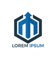 initial letter m business logo design vector image vector image