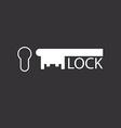 keyhole and key design logo real estate agency vector image
