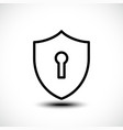 keyhole shield icons on white background vector image vector image