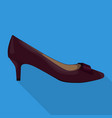 kitten heel woman shoes flat isolated vector image