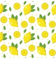 Lemon seamless pattern Lemonade endless vector image vector image