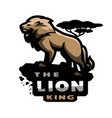 lion king of beasts logo emblem vector image vector image