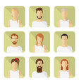 man and woman avatar set in modern flat style vector image vector image