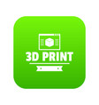 material 3d printing icon green vector image vector image