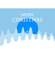 merry christmas winter landscape with snowflakes vector image