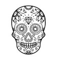 mexican sugar skull design element for poster vector image vector image