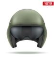 Military flight helicopter helmet vector image vector image