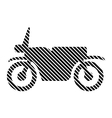 Motorcycle sign on white vector image