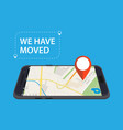 moving concept changing address vector image