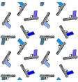 multi-colored seamless pattern of pistols on a vector image