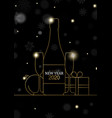 new year 2020 card gold art deco party drink vector image vector image
