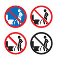 no peeing on floor sign do not pee outside of vector image vector image