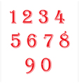 Number red vector image vector image