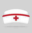 nurse hat isolated on background vector image vector image
