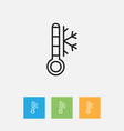 of weather symbol on frost vector image vector image