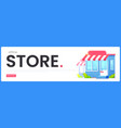online store banner the great design for any vector image vector image