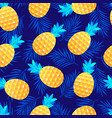pattern with pineapples and leaves vector image vector image