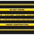 Police line and danger tapes Realistic vector image vector image