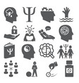 psychology icons set on white background vector image