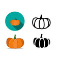 pumpkin icons in flat style vector image vector image