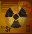 radioactive strontium vector image vector image