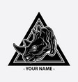 rhino logo design vector image