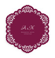 round lace doily with cutout border pattern vector image