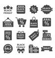 set black friday icons vector image vector image