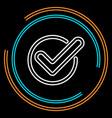 simple check thin line icon vector image