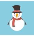 snowman happy merry christmas card vector image vector image