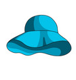 summer panama hat icon vector image