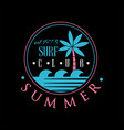 surf club summer logo est 1978 creative badge vector image vector image