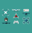 technological drones set modern wireless vector image vector image