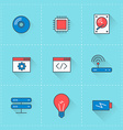technology icons icon set in flat design style vector image