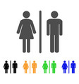 toilet flat icon vector image vector image
