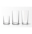 transparent glasses goblets set vector image vector image