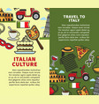 travel to italy vertical commercial brochures with vector image vector image