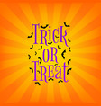 trick or treat poster vector image