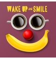 Wake up and smile motivation background vector image vector image