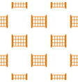 yard fence pattern seamless vector image