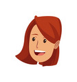 young woman laughing face pretty cartoon vector image vector image
