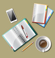 note paper with drawing business strategy plan vector image