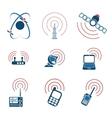 Radio signal simple icons vector image