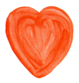 Hand-drawn Varnish Heart Isolated on White vector image