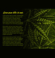 background with cannabis leaves vector image
