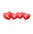 balloon heart red color love message design vector image vector image
