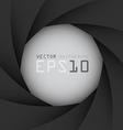 Black camera shutter background eps10 vector image