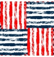 Blue red and white striped woven grunge seamless vector image vector image