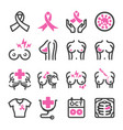 breast cancer icon vector image vector image