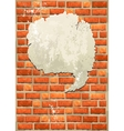 Brick wall with bubble for speech vector image